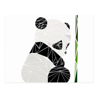 Geometric sad panda postcard
