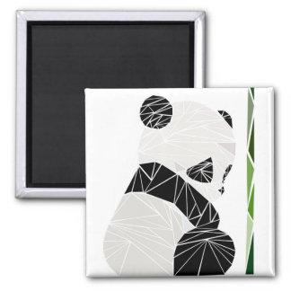 Geometric sad panda square magnet
