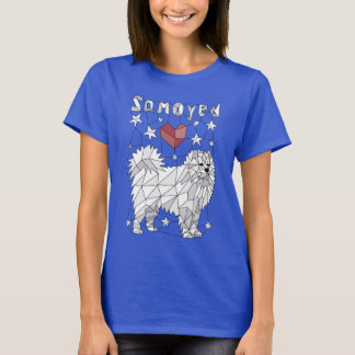 Geometric Samoyed T-Shirt