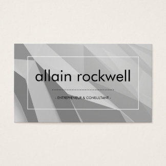 Geometric Shades of Gray Business Card