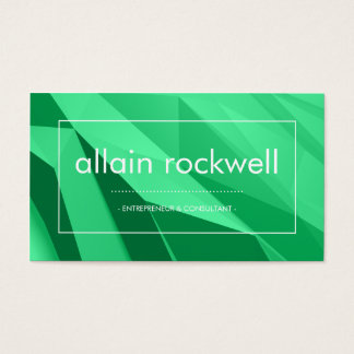 Geometric Shades of Green Business Card