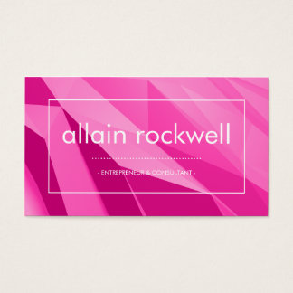 Geometric Shades of Pink Business Card
