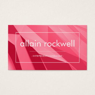 Geometric Shades of Red Business Card