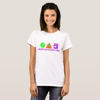 Geometric Shape Characters Give Encouragement T-Shirt