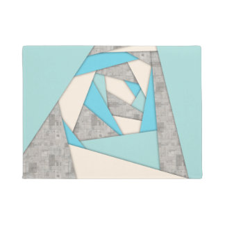 Geometric Shapes Abstract Doormat