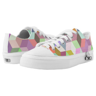 Geometric Shapes Low Tops