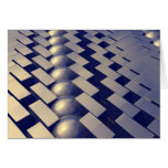 Geometric Shapes of Gold Greeting Card