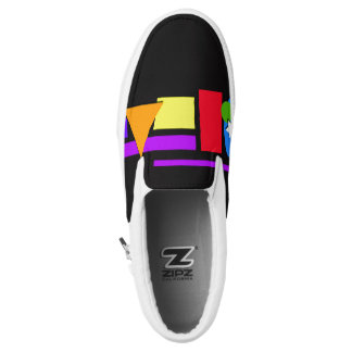 Geometric shapes slip on shoes. printed shoes