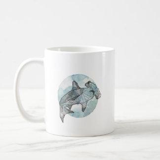 geometric shark cup