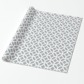 Geometric Silver Gray Wrapping Paper