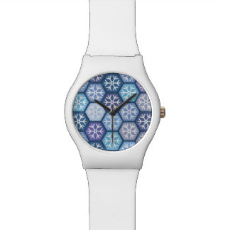 Geometric Snowflakes Pattern Wristwatch
