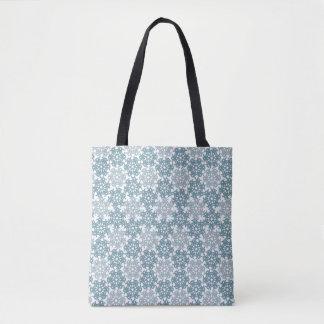 Geometric Snowflakes V5 Tote Bag