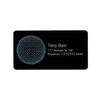 Geometric Sphere Label