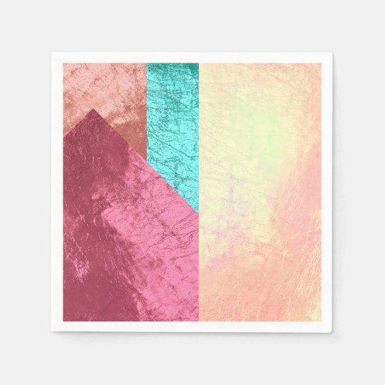 Geometric Splash of Colors Pink Rose Gold Blush