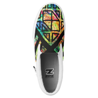 Geometric Splatter Slip On Shoes Printed Shoes