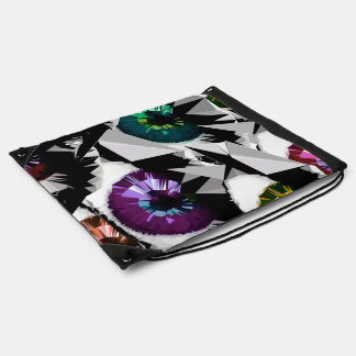 geometric spliced triangle trendy pattern fashion drawstring bag