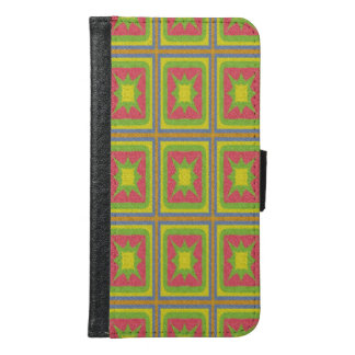 Geometric square colorful pattern samsung galaxy s6 wallet case