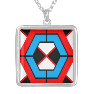 Geometric Square Necklace