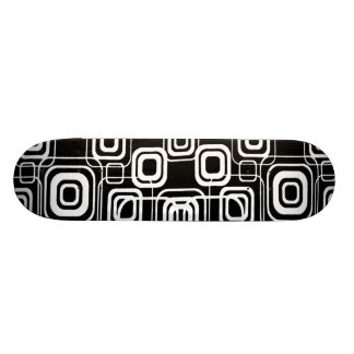 Geometric Squares Abstract Design Skateboard