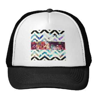 Geometric. Squares and Triangles. Trucker Hats