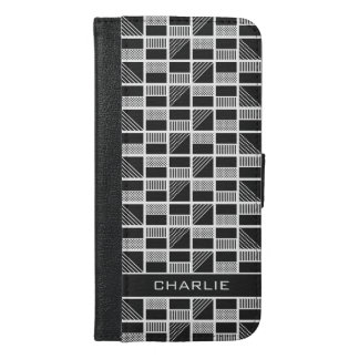 Geometric Squares custom monogram phone wallets