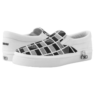 Geometric Squares custom monogram shoes Printed Shoes