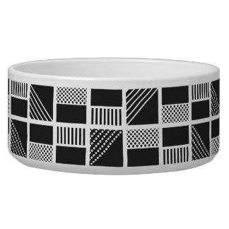 Geometric Squares pet bowls