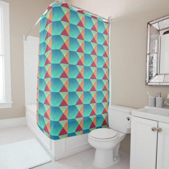 Geometric Squares Shower Curtain