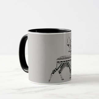geometric stag cup
