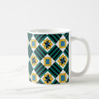 geometric standard coffee mug