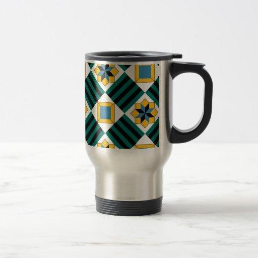 geometric standard coffee mugs