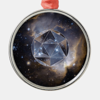 Geometric star cluster christmas ornament