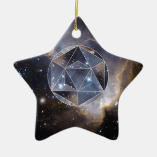 Geometric star cluster christmas ornament