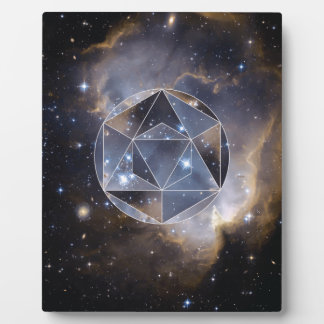 Geometric star cluster plaque