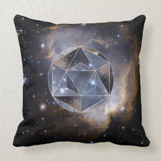 Geometric star cluster throw pillow