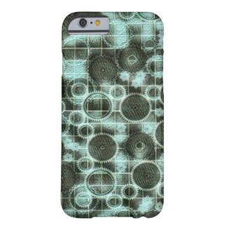 Geometric Steampunk Cog Blueprint Barely There iPhone 6 Case