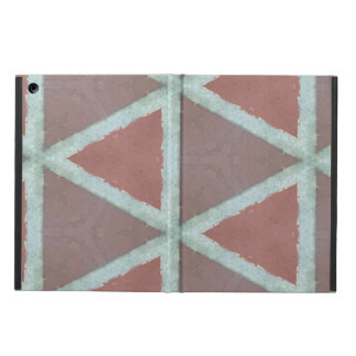 Geometric stone pattern cover for iPad air
