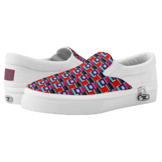 Geometric Strides Slip-On Shoes