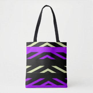 Geometric Stripes Tote Bag