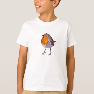 Geometric Style Red Robin