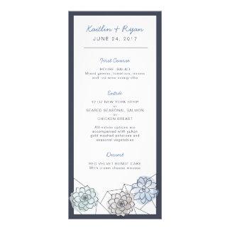Geometric Succulent Wedding Menu