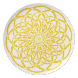 Geometric Sunshine Plate