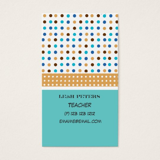 Geometric Teacher Counsellor Cute and Friendly Business Card