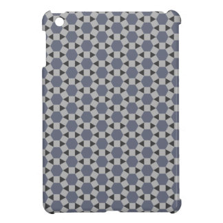 Geometric Tessellation Pattern in Grey and Blue Cover For The iPad Mini