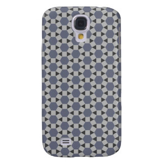 Geometric Tessellation Pattern in Grey and Blue Galaxy S4 Case