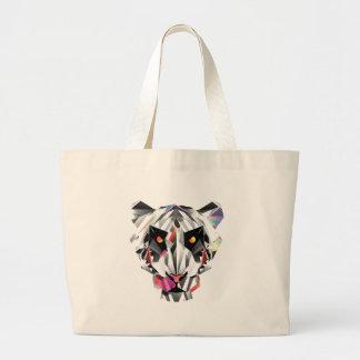 Geometric Tiger Large Tote Bag