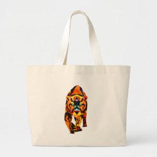 Geometric Tiger Prowl Large Tote Bag