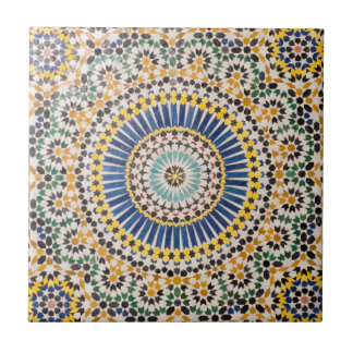 Geometric tile pattern, Morocco