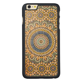 Geometric tile pattern, Morocco Carved® Maple iPhone 6 Plus Case
