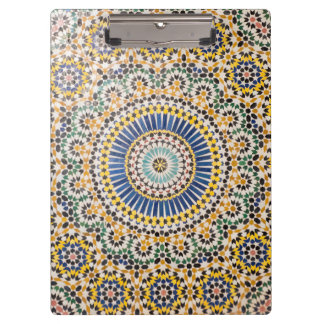 Geometric tile pattern, Morocco Clipboard